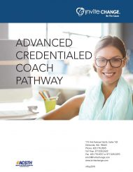 Advanced Credentialed Coach Pathway course brochure